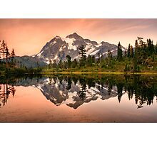 Mount Shuksan reflected in Picture Lake, Washington, USA Photographic Print