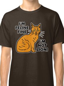 Funny Cat Pun Humor Classic T-Shirt