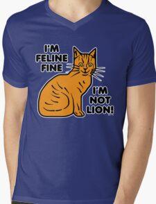 Funny Cat Pun Humor Mens V-Neck T-Shirt
