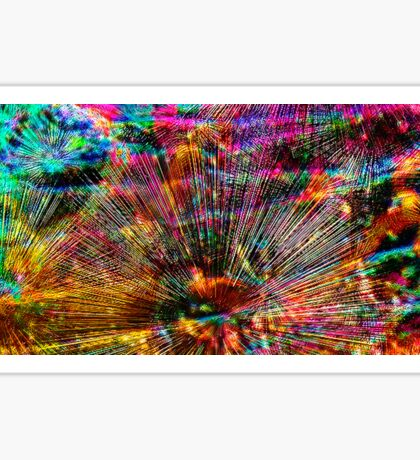 Radiant Abstract - Contemporary Digital Painting Sticker
