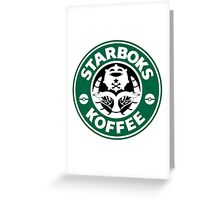 Starboks Koffee Greeting Card