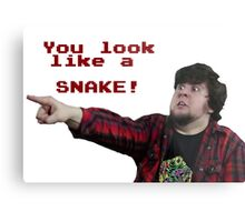 JonTron: YOU LOOK LIKE A SNAKE!  Metal Print