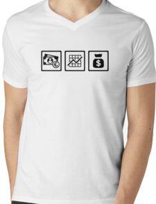 Banker finance logos Mens V-Neck T-Shirt