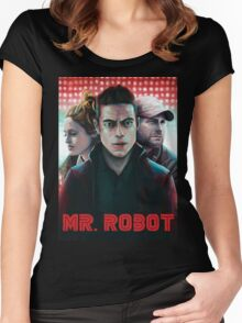 mr robot Women's Fitted Scoop T-Shirt