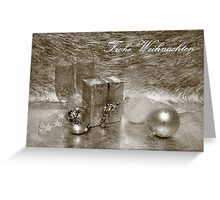Frohe Weihnachten (Sepia) Greeting Card