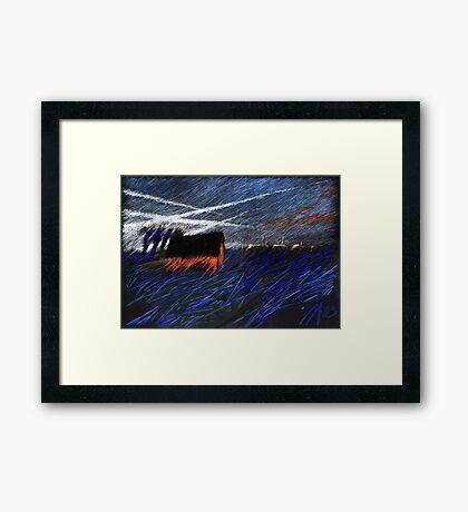 sky streams Framed Print