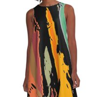 wave attack A-Line Dress