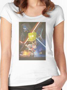 Rogue One SpongeBob SquarePants Women's Fitted Scoop T-Shirt