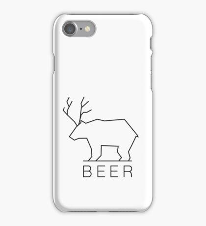Minimalistic Beer  iPhone Case/Skin