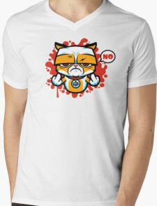 Sour Puss Mens V-Neck T-Shirt