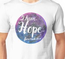 Hand Painted Watercolor Jeremiah 29:11 Unisex T-Shirt