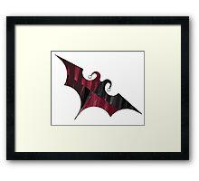 Batquinn logo Framed Print