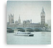 Letters From the Thames - London Canvas Print