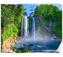Cascadas De Misol Ha - Tropical Waterfalls in Chiapas Mexico Poster
