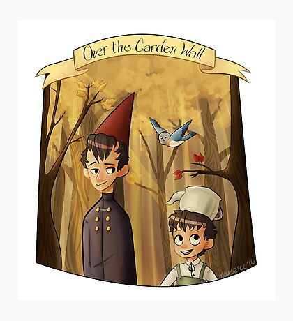 Take a Walk Through the Woods// Over the Garden Wall Photographic Print