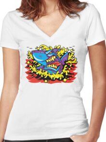 Shark Week Women's Fitted V-Neck T-Shirt