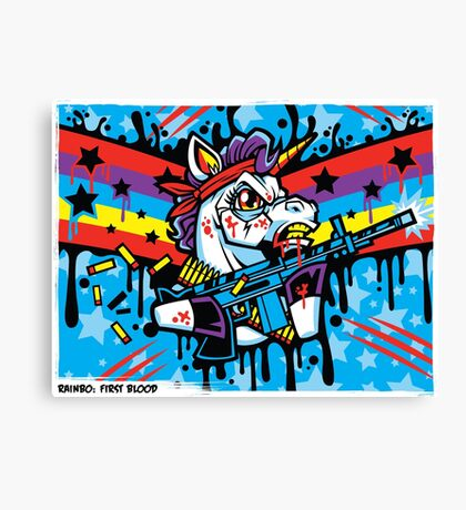 Rainbo: First Blood Canvas Print
