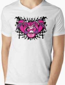 Evil Beaver Mens V-Neck T-Shirt