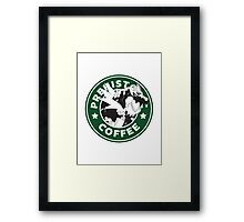 Prehistoric Coffee Framed Print