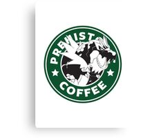 Prehistoric Coffee Canvas Print
