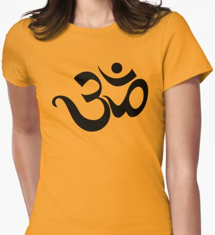 "Yoga ""Om Symbol"" T-Shirt Womens Fitted T-Shirt"