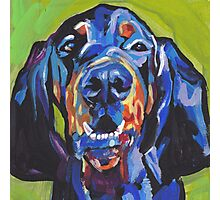 Black and Tan Coonhound Bright colorful pop dog art Photographic Print
