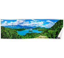 Lake Bled, Slovenia panoramic Poster