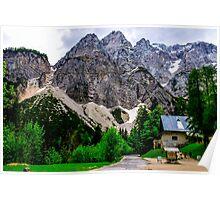 Alpine road through Slovenia Poster