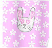 Kawaii Bunny  Poster