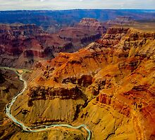 Grand Canyon as seen from a helicopter by Luke Farmer