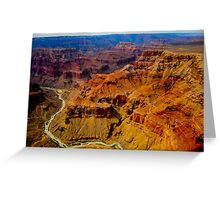 Grand Canyon as seen from a helicopter Greeting Card