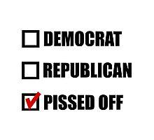 Pissed Off Voter Photographic Print