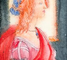 Boticelli stylized watercolor portrait II by vinainna