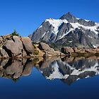 Mount Shuksan reflected in a mountain pond near Huntoon Point by DArthurBrown