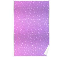 Pixel Stars on Pink & Purple Sky Poster