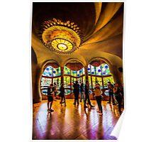 View from inside Casa Batllo in Barcelona, Gaudi Poster