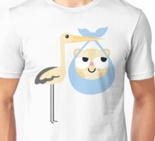 Stork with Baby Hamster Emoji Think Hard and Hmm Unisex T-Shirt