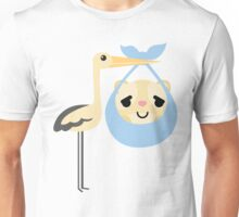 Stork with Baby Hamster Emoji Pretty Please Face Unisex T-Shirt