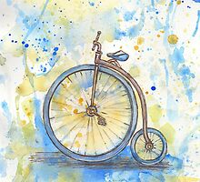 Antique high wheel bike by torishaa