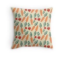In Love With Carrots Throw Pillow