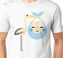 Stork with Baby Hamster Emoji Teary Eyes with Joy Unisex T-Shirt