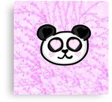 Kawaii Panda Love Canvas Print