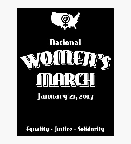 National Women's March -- January 21, 2017 Photographic Print
