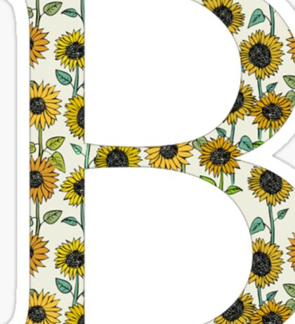 Beta- Sunflower Greek Letter Sticker