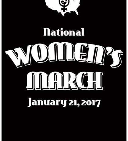 National Women's March -- January 21, 2017 Sticker