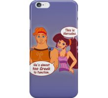 Too Greek to Function iPhone Case/Skin