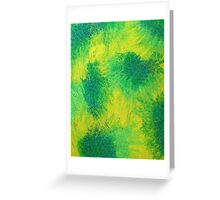 Geometric Lemon Lime Oil Pastel Etching Greeting Card
