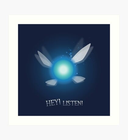 Navi from Zelda Series - Hey! Listen! Art Print