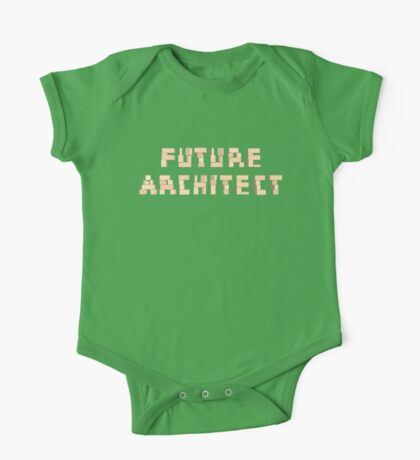 Future Architect Kids Blocks Architecture T-Shirt One Piece - Short Sleeve