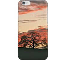 Lone Tree and Smokey Foothill Sunset iPhone Case/Skin